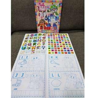 123 / ABC Sticker + Colouring Book