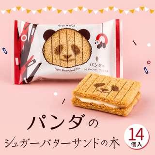 日本直送 菓子系列 期間限定 熊貓奶油夾心千層酥 14枚入 賀年禮盒