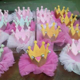 Baby Princess Crown Headbands and clips souvenirs giveaways