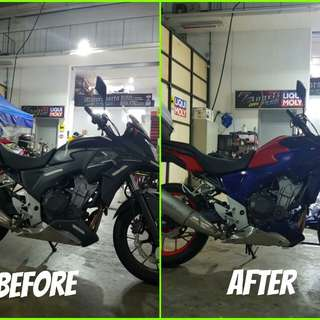 Cb400x Makeover @ 7 Angelz Singapore