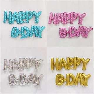 "HAPPY B-DAY 16"" Foil Balloon Letter Set"