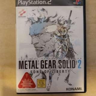 PS2 Metal Gear Solid 2