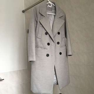 Grey Winter wool Coat