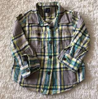 Baby GAP Checkered Shirt 18-24 months