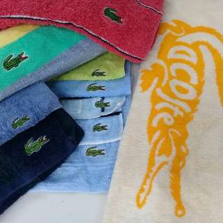 Lacoste towel collection