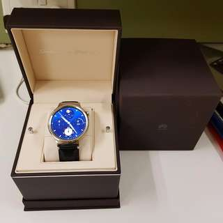 Huawei Watch Stainless Steel with Black Leather Strap -  Retail Price $629, For IOS & Android, Moto 360 watch Unisex | Android Wear |
