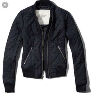 abercrombie &fitch 💙navy bomber jacket size s