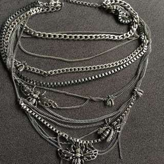 Layered necklace with detailing
