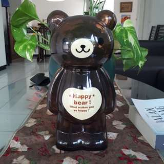 Celengan Plastik Beruang / Plastic Piggy Bank - Brown Bear