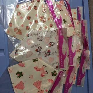 CLEARANCE ! 1 for $1.00! 100% COTTON BABY BIBS ! Button kind