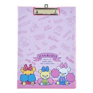 Japan Disneystore Disney Store Unibearsity Pudding & Puffy & Apricot CHEER UP Clip File Preorder
