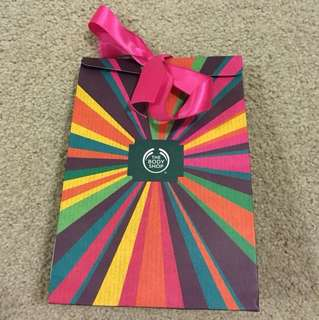 Body shop gift bag