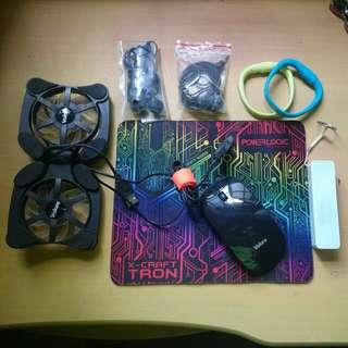 Clearing electronic stuff + free mousepad