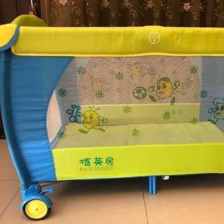植英房雙層遊戲床+玩具架+蚊帳