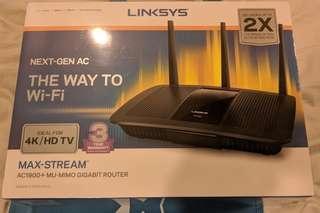 Linksys EA7500-AHV2 MAX-STREAM™ AC1900+ MU-MIMO GIGABIT WI-FI ROUTER