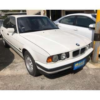 1995年出廠 BMW 總代理E34 520I 2.0 潔亮白