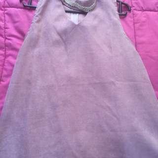 Pink dress collar