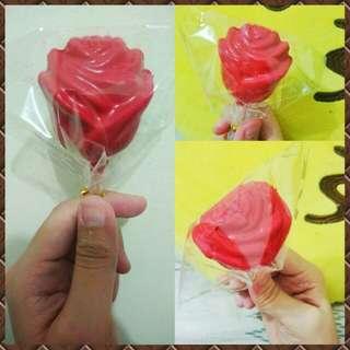 3D Rose Lollipops