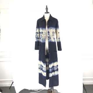 100%. Hand Tie Dye Wool Coat *COMPANY SAMPLE