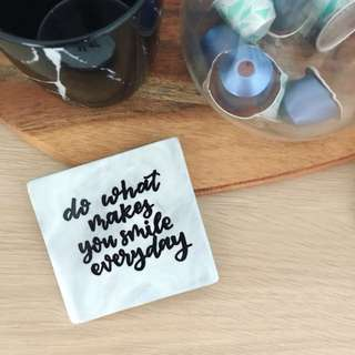 Personalised Coasters - motivation quotes