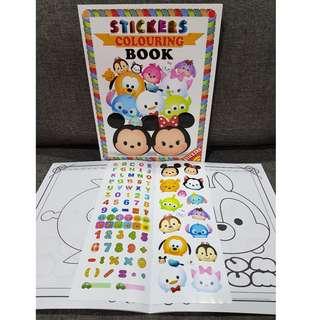 Sticker + Colouring Book