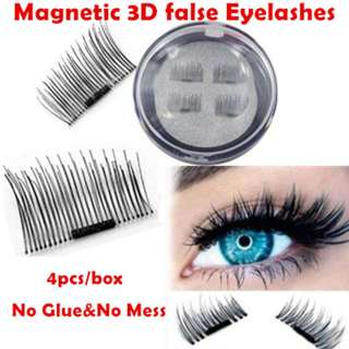 ♛0.02mm Ultra-thin/Latest PREMIUM 3D Reusable Magnetic Fake Eyelashes for Natural Look Cruelty Free♛