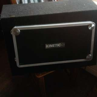 Kinetic 4 Chanel AMP (KD-1504) & Rockford Fosgate P2 12inch Subwoofer Box