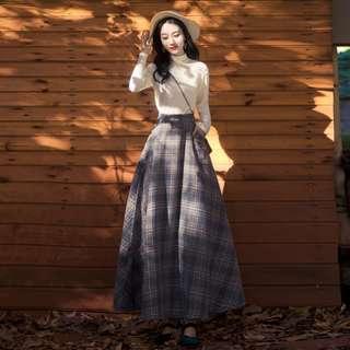 Dress Collection - Vintage Style Long Tutu Neck Design Dress