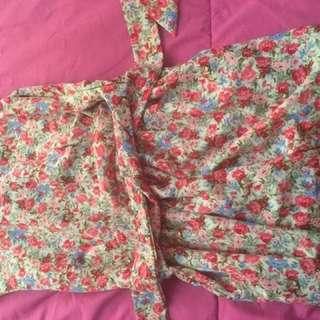 Flower dress ribbon