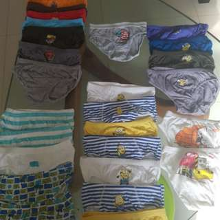 Minion Spiderman Thomas the trainBoy Underwear #huat50sale