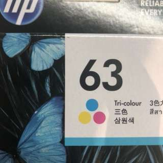 HP ink cartridge 63 Tri-colour