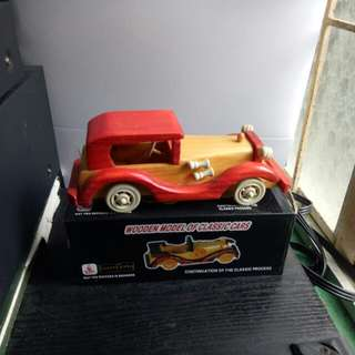 Wooden Classic Toy Car, Red