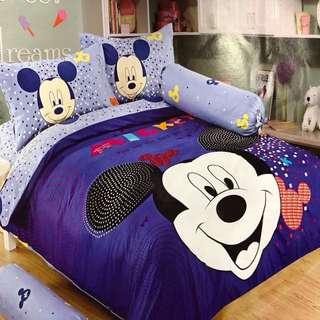 Mickey Mouse Character 4 in 1 Bedsheets Set SEMI DOUBLE ONLY