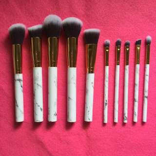 *CNY SALE* MARBLE HANDLE MAKEUP BRUSH SET