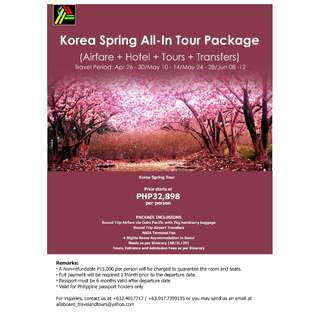 Korea Spring All-In Tour