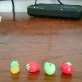 Mini resin fruits
