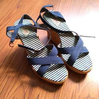 Navy Blue Wedges
