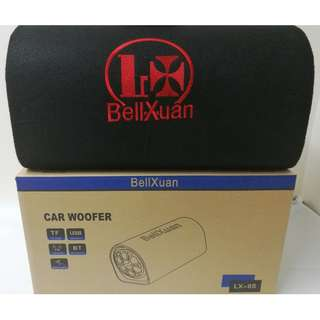 Portable Speaker Car Woofer Bluetooth With Remote Control(Black) SEPTWOLVES