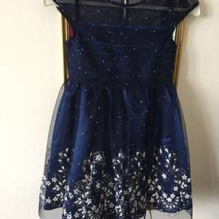 NEW! JONA MICHELLE NAVY BLUE TULLE FORMAL DRESS