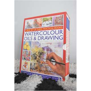 Art book set ( Watercolor, Oils & Drawing )