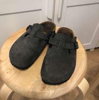 Birkenstock深灰拖鞋