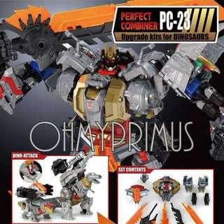 Perfect Effect PE PC-23 PC23 - Transformers Takara Hasbro Power Of The Primes POTP Dinobots Grimlock Upgrade Kit II
