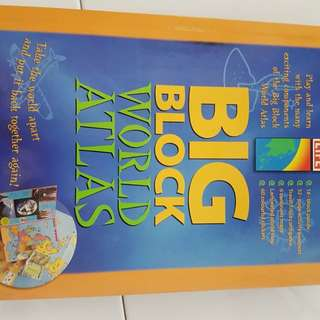 Book on world map