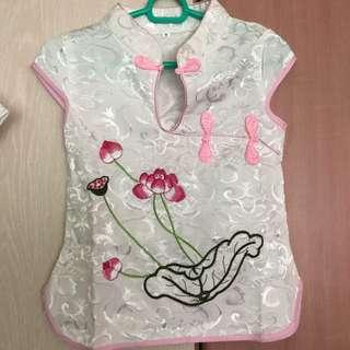 Oriental girl set - Cheong sum top and skirt