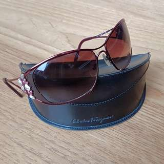 Red Ferragamo Sunglasses