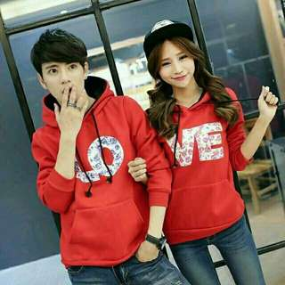 Sweater Couple / Sweater Pasangan / Baju Couple / Baju Pasangan Hoodie LOVE