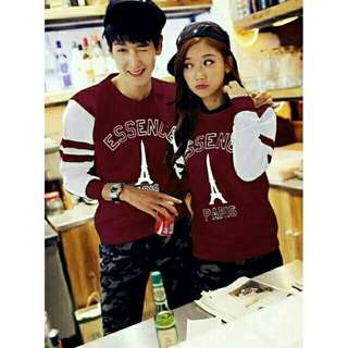 Sweater Couple / Sweater Pasangan / Baju Couple / Baju Pasangan Essence Maroon