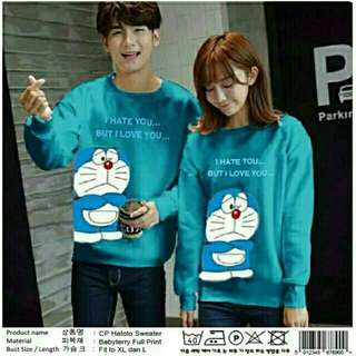 Sweater Couple / Sweater Pasangan / Kaos Couple / Baju Pasangan Dora Hate