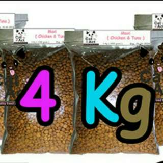 Promo cat food 4kg(sdh ongkir sejabodetabek)