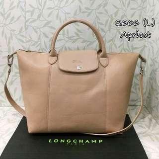 Longchamp Le Pliage Cuir Apricot Color
